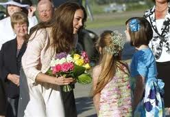 Flowers presented to The Duchess of Cambridge.