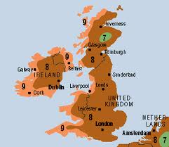 UK Climate Zone Map