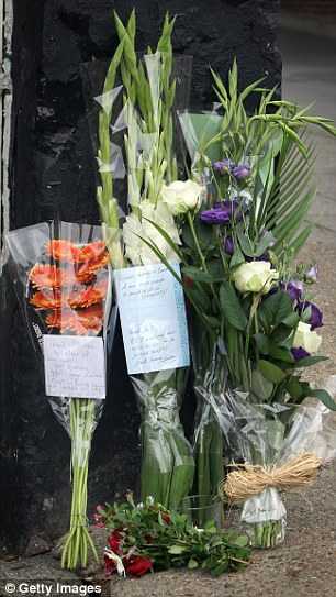 Flower memorial in Ealing, East Londong