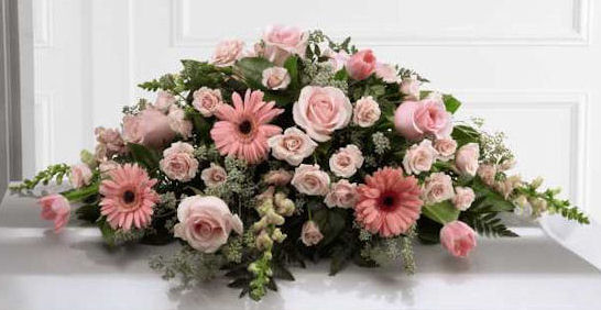 The Sweet Blessings Casket Spray from Grower Direct Fresh Cut Flowers