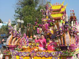 A float at the Chiang Mai Flower Festival