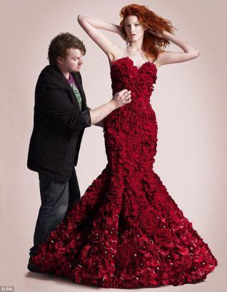 Joe Massie's Red Naomi Haute Couture Dress