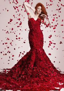 Red Naomi Haute Couture Dress