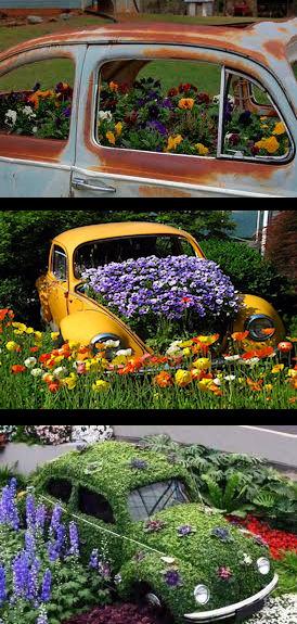 Beetle Garden Planters