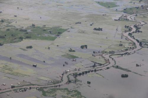 Ecuador cropland flooded