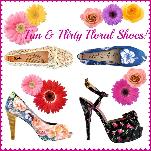 Floral Shoes, summer 2012 trend