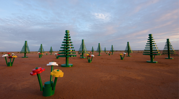 Festival of Play: Lego flowers + trees, Australia