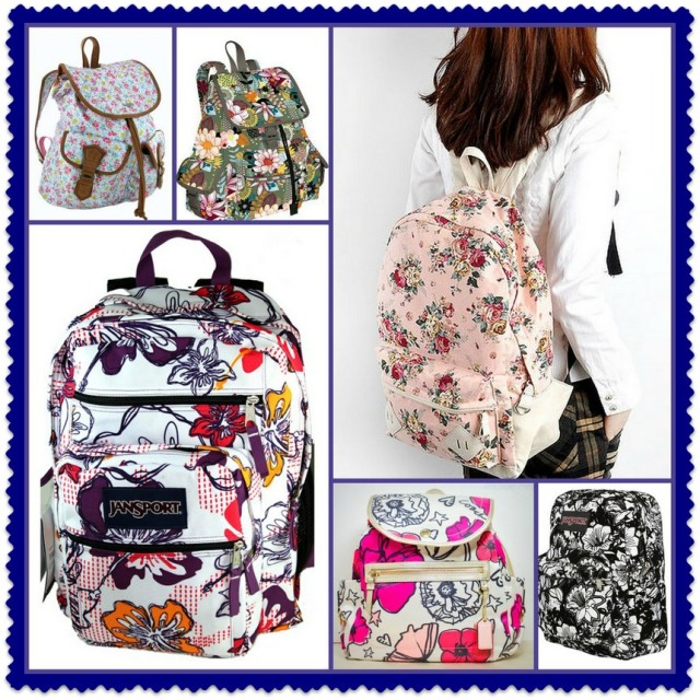 Floral Backpacks for Back to School