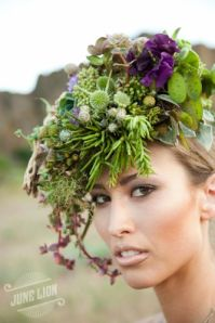 floral headpiece by Francoise Weeks