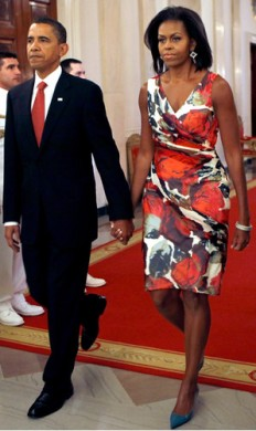 michelle obama in floral dress