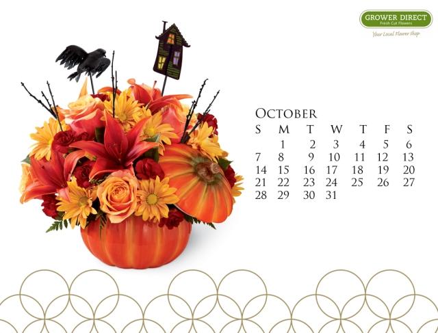 October 2012 desktop calendar