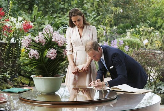 Prince William and Kate at the orchid naming ceremony in Singapore