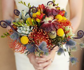 textured wedding bouquet
