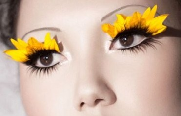 flower inspired eyelashes