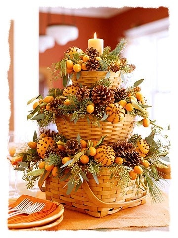 thanksgiving basket arrangement