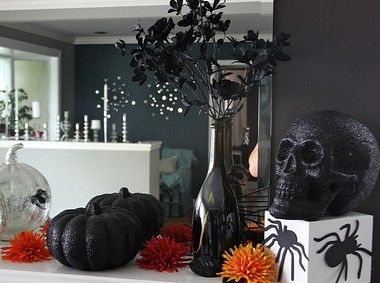 black flowers for halloween