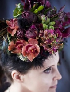 flower headpiece by Françoise Weeks