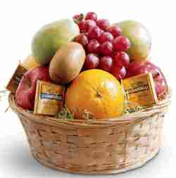 Basket of Fruit & Chocolate from Grower Direct