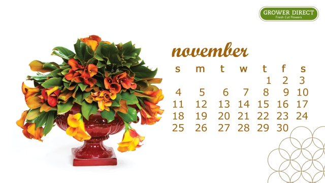 November 2012 calendar desktop wallpaper