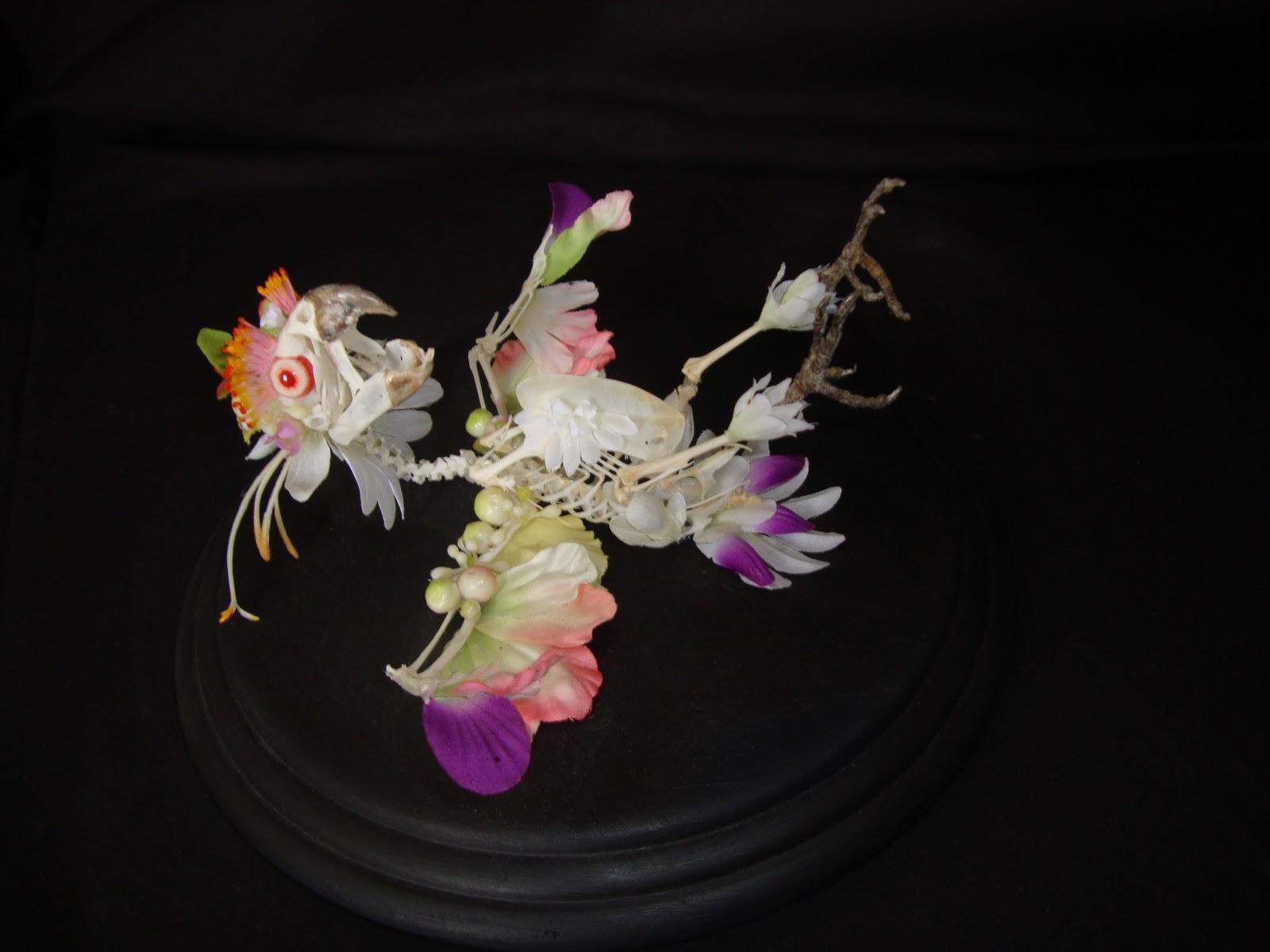 Must See Creepy Flower Skeleton Sculptures