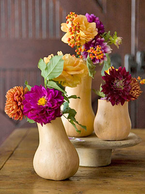 Gourd Vase, fall centerpiece ideas
