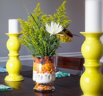 Halloween candy vase