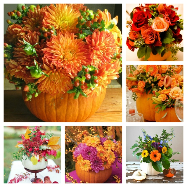 pumpkin flower arrangements ideas