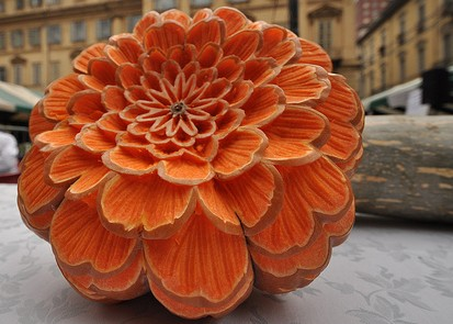 pumpkin flower carving