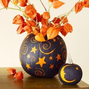 pumpkin vase for halloween