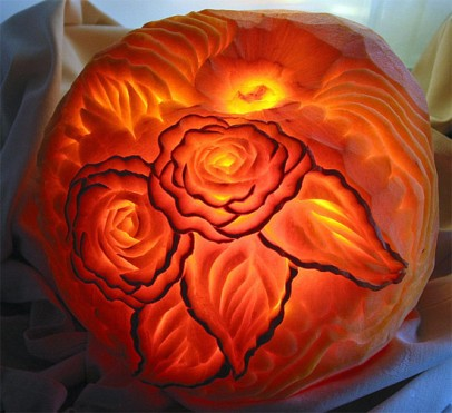 roses- pumpkin carving