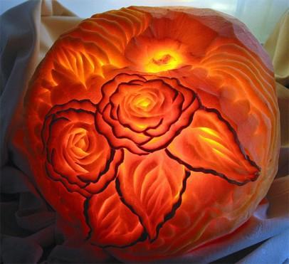 roses- pumpkin carving