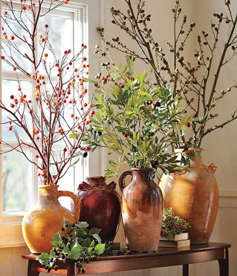 berries and branches arrangement