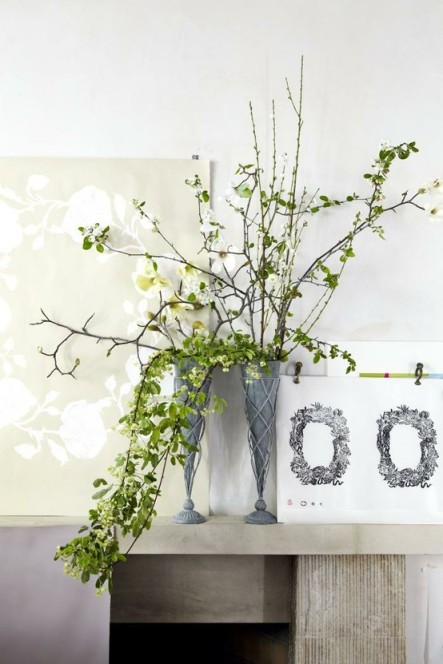 branch flower arrangement