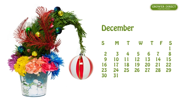 free december 2012 desktop calendar wallpaper  in HD 3
