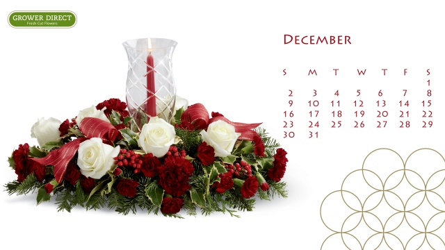free december 2012 desktop calendar wallpaper in HD 4