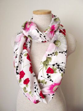 handmade floral scarf from Etsy