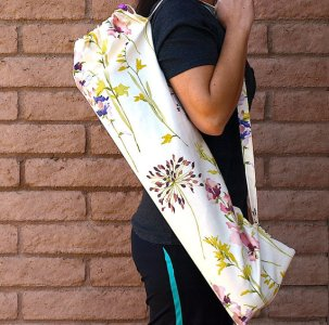 floral print yoga bag from Etsy