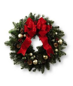 Holiday wreath from Grower Direct Fresh Cut Flowers