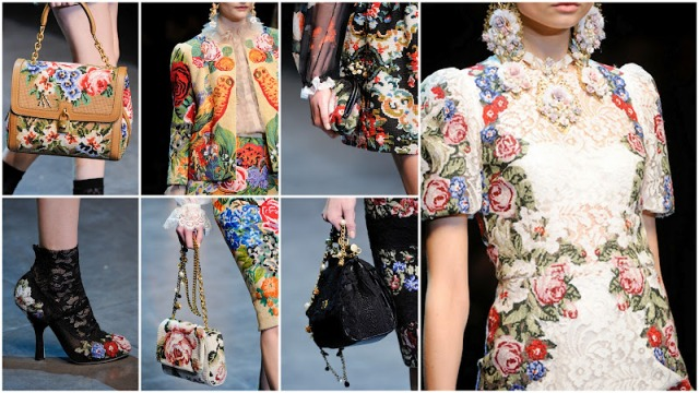 winter fashion trend: florals