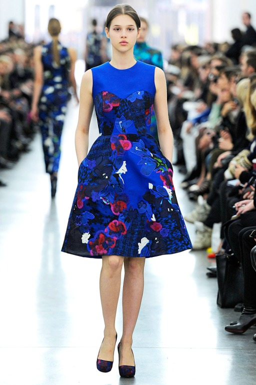 winter fashion trend: florals, Erdem