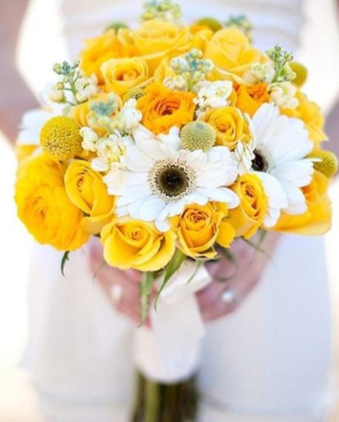 golden yellow wedding flowers