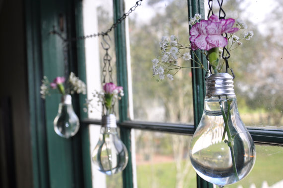 light bulb vase from Etsy, creative vases