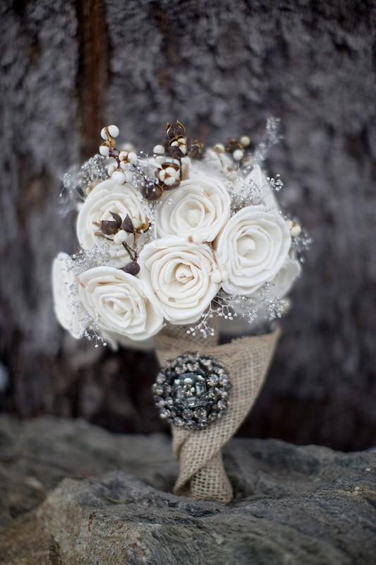 winter flower trend, metallics