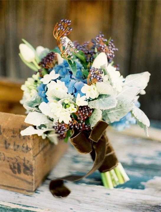 velvet wrapped flowers
