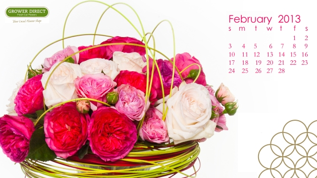 free HD February 2013 desktop calendar wallpaper-1