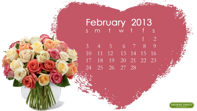 free HD February 2013 desktop calendar wallpaper-3