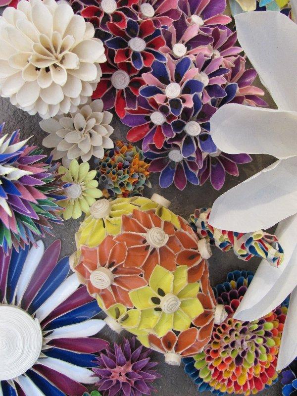 Masking Tape Flowers; tapigami
