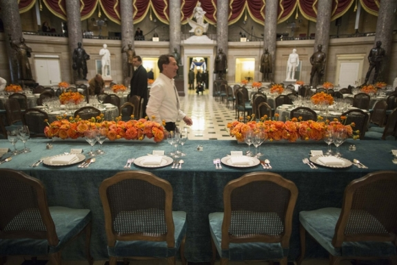 flowers at the inaugural luncheon