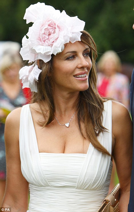 Fashion friday floral fascinators grower direct fresh cut flowers actress elizabeth hurley in floral fascinator mightylinksfo