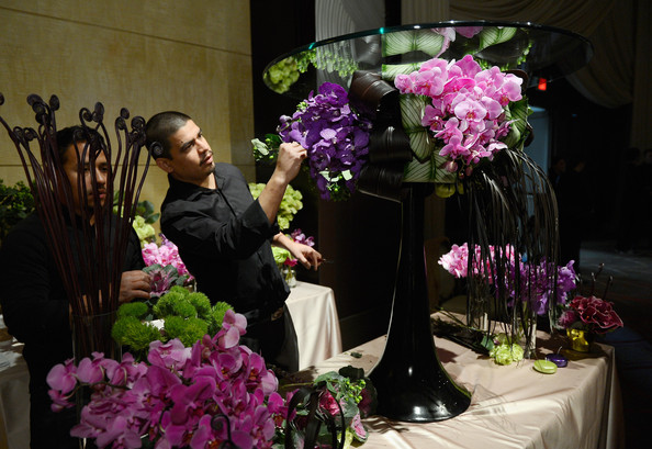 flower arrangements at the 85th Academy Awards Governors Ball